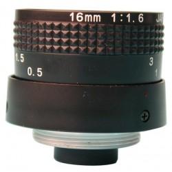 Objectif 16 mm (angle de vue de 17°)