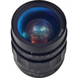 Objectif  25 mm avec un angle de vue de 20°