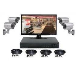 Kit vidéo surveillance 4 caméras sur pied (800 lignes)