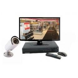 Pack vidéosurveillance 1 Caméras sur pied IR 20 mètres