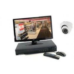Kit de vidéosurveillance - 1 Mini Dôme IR 20m (800lignes)