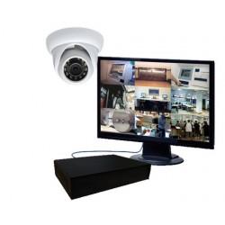 Pack vidéosurveillance 1 caméra mini dôme IP 1.3 mégapixels