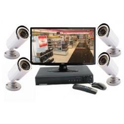 Kit vidéosurveillance 4 caméras infrarouges 20 m