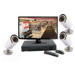 Kit vidéosurveillance - 3 caméras IR à 20 m (1000 lignes)