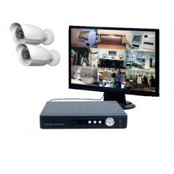 Kit vidéo surveillance IP - 2 caméras IP - IR à 20 m