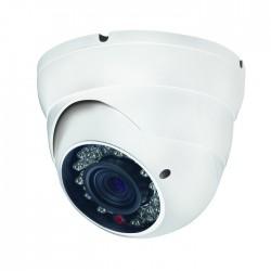 Caméra mini-dôme Varifocale avec Infrarouge 30 mètres
