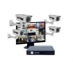 Kit vidéosurveillance - 4 caméras IP66 - IR 20/30mètres