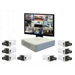 Pack vidéo surveillance 8 caméras IP - Wifi - IR 20m
