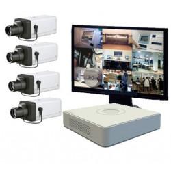 Kit vidéosurveillance - 4 caméras Wifi Pro (2Mp)